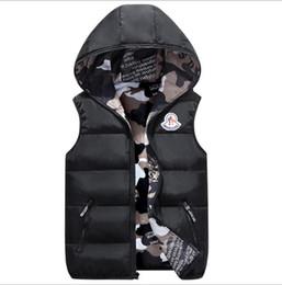 giacche invernali in mens invernali Sconti 2019 New piumino invernale invernale da uomo Piumino casual di marca Felpe con cappuccio Parka caldo Sci Gilet da uomo da uomo S-4XL