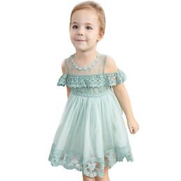concurso de ropas Rebajas Niños Niñas Princesa Vestido Niños Encaje Floral Ruffles Malla Rendimiento Vestido formal Ropa Fiesta Concurso Enfant fille Robe