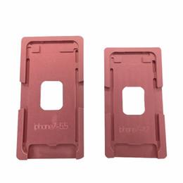Oca plastifieuse en Ligne-Panbon Metal moule et tapis de stratification pour iphone X iX XS max xr 7 8 6 Plus 5 moule de positionnement de l'écran LCD OCA Laminator Machine