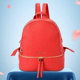 2019 bolsas de couro bolsas para meninas michael kros bags mk Mulheres da moda famosa marca estilo mochila bolsas de couro para meninas saco de escola das mulheres de luxo Designer de bolsas de ombro bolsa bolsas de couro bolsas para meninas barato