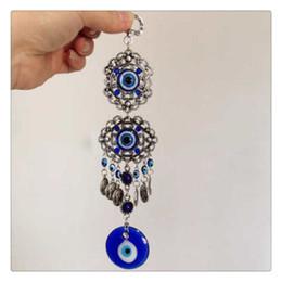 moedas moeda Desconto 2019 Amuleto Olho Azul Proteção Turca Pendurado Na Parede Decoração de Casa Bênção Presente Sorte Pingente Criativo Freeshipping Atacado
