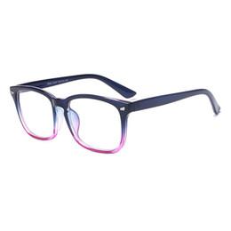 Miroir plat, monture de lunettes à ongles en riz, verres rétro à monture large, miroir plat transparent unisexe ? partir de fabricateur