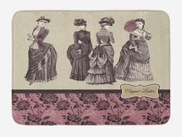 ropa victoriana Rebajas Alfombrilla victoriana Ropa de mujer Historia de la moda Vestido Bolso Guantes de plumas Diseño floral Estampado Decoración para el hogar Alfombrillas para alfombras