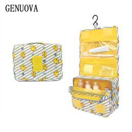 Подвесные сумки для путешествий онлайн-New Travel Cosmetic Hanging Bag Women Zipper Make Up Bag High Capacity Makeup Daily Supplies Toiletries Handbag Organizer