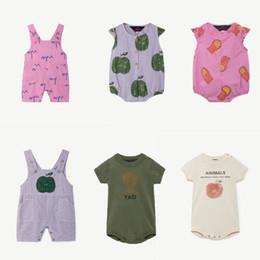 chineses onesies Desconto Macacão de bebê TAO Marca Meninos Meninas Macacão Macacões Recém-nascidos Roupas Infantis Criança Roupas Infantis 2019 Novo Verão Bobo Choses