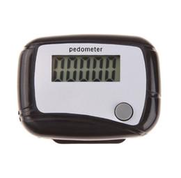 2019 exibição de mãos plásticas LCD Digital Passo Contador Run Andar Pedômetro Distância Calorie Monitor de Alta Qualidade COR PRETA