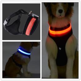 ha condotto il petto del collare del cane Sconti C04 Pet dog LED collare per cane leggero e fascia toracica due in un set per cani di taglia media