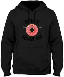 2019 krapfen-sweatshirt Donut Richter Me Lustig Printed Top-Marken-Kleidung Slim Fit Printing Pullover Sweatshirts günstig krapfen-sweatshirt