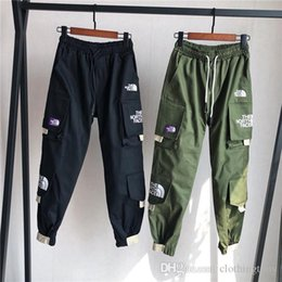 157e89bbb8e385 19ss The North Stars and Stripes Gore-tex elastic waist track Pants Purple  Trousers Men Women fashion sport Jogger Sweatpants Outdoor Pants