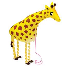 Girafa dinossauro Atacado Vários Folha De Alumínio Hélio Andando Animal Balões de Estimação Brinquedo Do Bebê Presente New Arrival Frete Grátis de