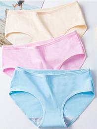 Calcinha das mulheres de algodão das mulheres 2019 novo estudante japonês doces menina cor pura cuecas em tamanho grande de Fornecedores de meninas de calças de estudante