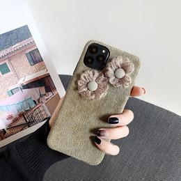 Grüne 3d fall online-Für Iphone 11 Pro Phone Case Xs Max Xr Corduroy Blumen 3D 6 7 8 X Plus Dark Green Soft Cell Phone Cases