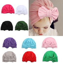 stili di nodo legato Sconti Nuovo cappello da bambino a farfalla con cucitura a forma di farfalla, stile bohemien, cappello a forma di turbante per bambina