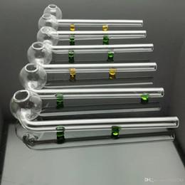 doppelt gekrümmtes rohr Rabatt Farbe Doppel-Drehpunkt Glas gebogene Pfanne Großhandel Glas Bongs Ölbrenner Glas Wasserleitungen Ölplattformen Rauchen frei