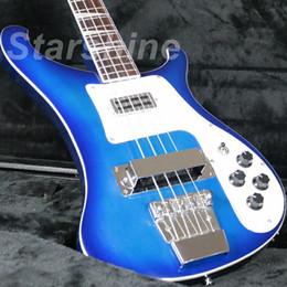 Guitarra eléctrica superior azul online-JBb4087 Nuevo producto bajo eléctrico E-4003 de calidad superior color azul
