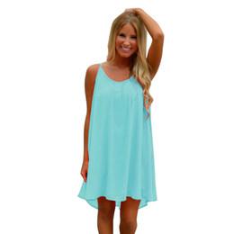 8123ec25f6baf 2019 vestidos summer dress women Spaghetti Strap Howllow Out Summer Chiffon Beach  Dress high quality plus size robe femme  4