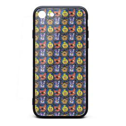 Couvertures d'iphone de caractère en Ligne-Coque iPhone 7 Coque iPhone 7 Cinq nuits chez Freddy Character Square, amortisseur de chocs en TPU souple, revêtement en silicone