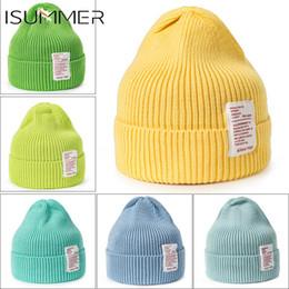 adesivi del cofano Sconti 13 caramelle di colore del Knit di inverno cappelli per le donne caldo cappello di modo garza Adesivi Copricapo dolce Cappello Skully Beanie Skullies Bonnet