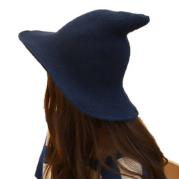 Modern Witch Hat Made From High Quality Sheep Wool Halloween Witch Hat GT