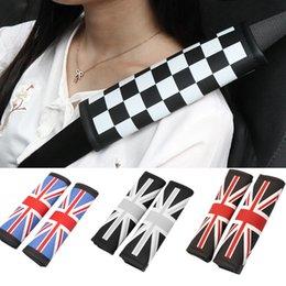 2019 ceintures de toyota Univeral Union Jack voiture Ceintures de sécurité ceinture épaulette coussin de rembourrage pour BMW Mini Cooper Toyota Honda Suzuki Mazda ceintures de toyota pas cher