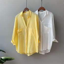 camisas de oficina sexy Rebajas Blusa de gasa de las mujeres de manga larga sexy estampado de leopardo blusa gire hacia abajo el cuello de la señora de la oficina camisa túnica Casual Tops sueltos más el tamaño