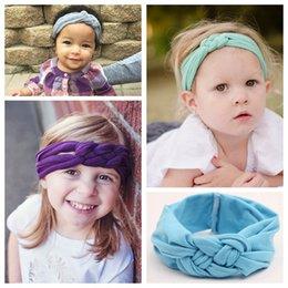 Женские банданы повязки онлайн-Китайский узел Hairbands для детей эластичный обертывание ручной дети хлопок банданы новорожденных девочек повязки аксессуары для волос