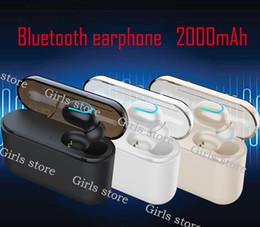 2019 auscultadores bluetooth grátis HBQ Q32 TWS 5.0 Fone De Ouvido Bluetooth 2000 mAh Bluetooth 5.0 + EDR Fone de Ouvido Sem Fio Mini Fones de Ouvido Sem Fio Sem Fio DHL