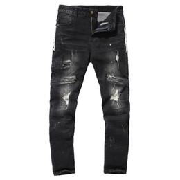 2019 jeans boutique all'ingrosso 2018 primavera e l'autunno con i fori dei jeans degli uomini Fine Boutique puro cotone cowboy pantaloni lacca commercio estero all'ingrosso Y610 jeans boutique all'ingrosso economici