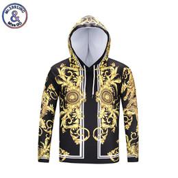 abrigos de dragón Rebajas Mr.1991inc Nuevas sudaderas con capucha de moda Harajuku 3D Gold Flowers Dragon Print Sudadera con capucha Chaqueta Unisex Casual Hip Hop tops