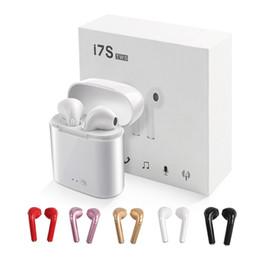 Caricatore universale per pc online-I7S TWS I7 mini cuffie Bluetooth senza fili auricolari auricolari con scatola del caricatore Cuffie Bluetooth auricolari per IPhone Android PC