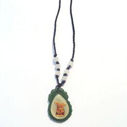 Natürlicher jadeit anhänger online-Jadeite mehrfarbig 14 k Solid Solid Gold Reines Burma eingelegt mit Natur Hetian Glasur Anhänger Mädchen Königin Freien schwarzem Seil