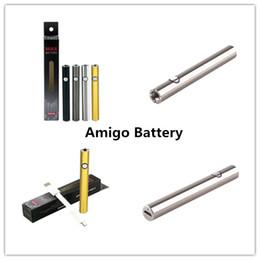 Amigo Max Battery Con caricatore USB Batteria 380mAh Capacità Nero Argento Gun Colori oro per Dank Vapes Smart Carts AC1003 100% Originale cheap gold vapes da i vapori d'oro fornitori