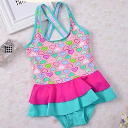 2018 New Cute Baby Girl traje de baño de una pieza para niños niñas traje de baño niño pequeño traje de baño falda de la falda trajes de baño de natación niños trajes de baño desde fabricantes