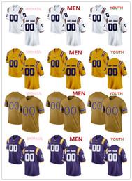 2019 curry de oro blanco Camisetas de los Tigres de la NCAA LSU Nick Brossette 4 Chris Curry 24 Camiseta de Myles Brennan 15 HOMBRE MUJERES JÓVENES amarillo púrpura Blanco oro fútbol camiseta curry de oro blanco baratos