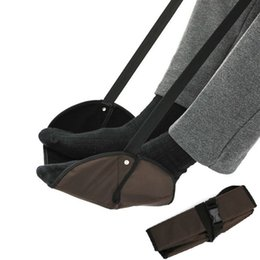 Подставка для ног Подставка для ноутбука Travel Travel Открытый самолет Офис Ручная подставка для ног Регулируемая высота Аксессуары для путешествий Подножки от