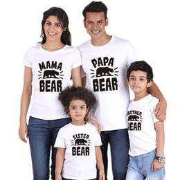 2020 a letra caçoa o tshirt Verão Matching Família roupa Rodada Collar Carta família imprimiu Pai Mãe Crianças T-shirt Vermelho Branco Preto Grey T de harmonização desconto a letra caçoa o tshirt