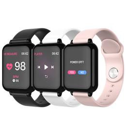 apfel app fernbedienung Rabatt Smart Watch B57 Gesundheitserkennung Sport Schlaf Monitor Smart Armband Anruf Nachricht Erinnerung Fernbedienung APP Anti-verlorene Smart-Armband