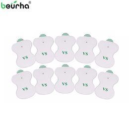 eletrodos de máquina de terapia digital Desconto Beurha 10PCS Pads Eletrodo para TENS Digital Terapia Máquina Cervical eletrônico Vertebra Fisioterapia Massager Pad Médio