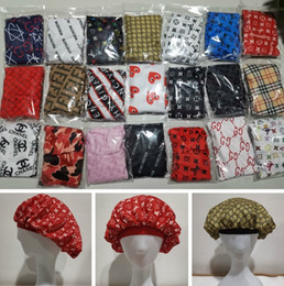 Bonnets contre le cancer en Ligne-5 pcs Designer Durag Femmes Musulmanes Stretch Sommeil Turban Chapeau Echarpe Soyeux Bonnet Chemo Bonnets Chapeaux Cancer Chapeaux Head Wrap Accessoires De Cheveux