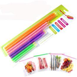 clips de sellado de alimentos Rebajas 8 unids / lote Magic Bag Sealer Stick Anylock Herramientas y equipo de refrigeración Bolsa de alimentos Clip de sellado Fresh Lock Stick Embalaje de regalo