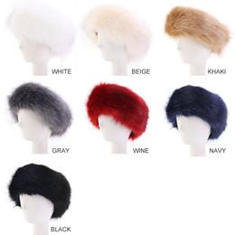 Plüsch haar zubehör online-Frauen Faux-Pelz-Winter-Stirnband Frauen Luxurious Fashion-Kopf-Verpackungs-Plüsch-Ohrenschützer-Abdeckung Haarschmuck RRA2150