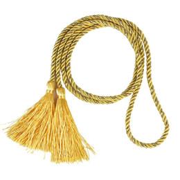 Gelbe krawattenrücken online-1 Paar Vorhang Raffhalter Raffhalter Quaste Seil Wohnzimmer Schlafzimmer Dekoration 135CM