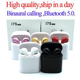 Bluetooth наушники I7 I7S TWS Twins Наушники Мини беспроводные наушники с микрофоном Stereo V5.0 для телефона Android с розничной упаковке от