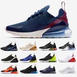 Nike Air max airmax 270 shoes Dunkelblau und Burgund Herren Damen Laufschuhe Regency Purple Bred Flair Triple Black Core weiß Trainer Olive Tiger