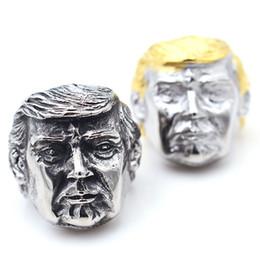 2019 schmuck amerikaner USA Präsident Trump Ring Edelstahl Schmuck Neueste Silber Gold Amerikanischen Präsidenten Cool Biker Herren Ring MMA1717 rabatt schmuck amerikaner