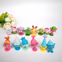 50pcs / lot troll magiche bambole 3-4cm giocattoli per bambini compleanno capelli colorati azione regalo da