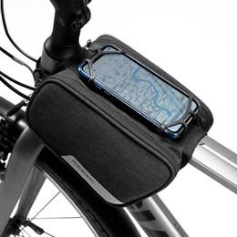 Roswheel 121461 5.7in Telefon Kılıfı Tutucu Dağ Yol Bisikleti Su Geçirmez Bisiklet Bisiklet Bisiklet Ön Çerçeve Üst Tüp Çift Çanta supplier waterproof bicycle phone holder nereden su geçirmez bisiklet telefonu tutacağı tedarikçiler