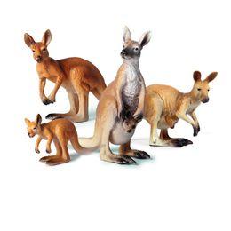 Animals World Kangaroo Static Model Plastic PVC Action Figures Toys Gift for Kid