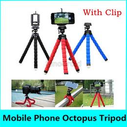 Monopé ajustável on-line-Suporte de telefone celular universal montar suporte do carro suporte de tripé polvo flexível monopé suporte de espuma ajustável para câmera do telefone inteligente