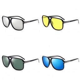 iluminación de la fábrica de la vendimia Rebajas Drive Polarized Light Sunglasses Classic Men Fashion Vintage Gafas con forma Bardian Sencillez Lentes Pure Color Factory Direct 13 99od I1